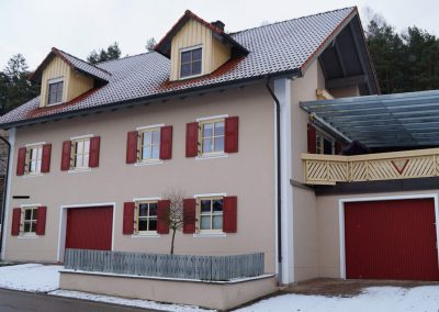 Fassadenanstrich Einfamilienhaus